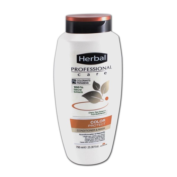 Herbal hispania professional care acondicionador & mascarilla color protec 750ml