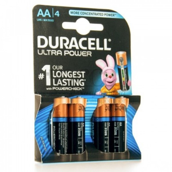 DURACELL ALCALINA ULTRA POWER AA LR6 4U