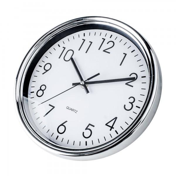 Reloj kuken blanco/cromo redondo 25cm