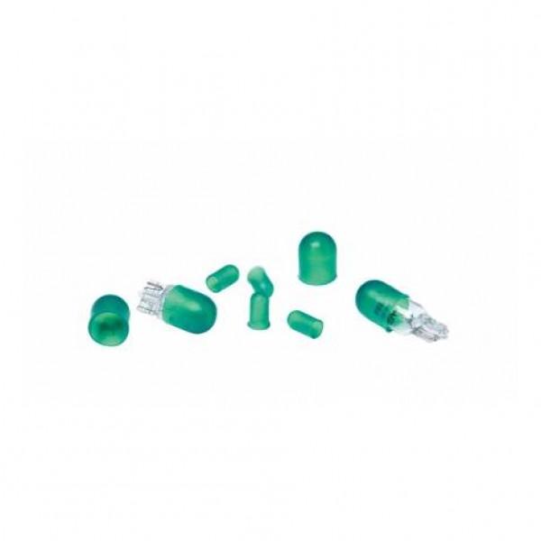 Cubrebombillas silicona, 4 x t10, 4 x t5 verde