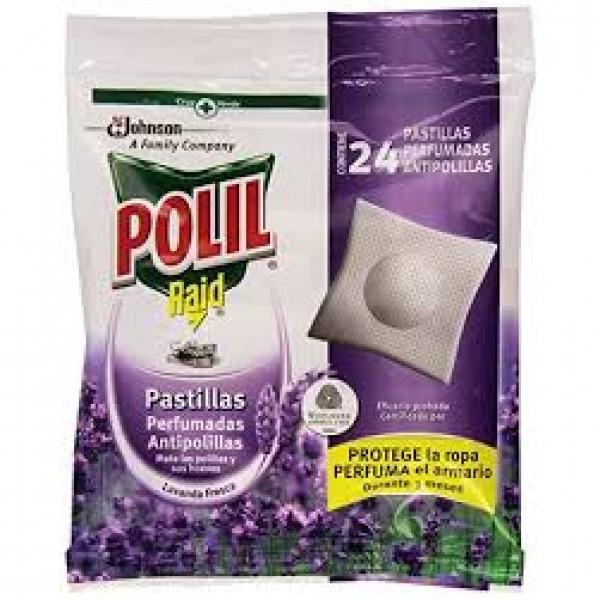 Polil pastillas antipolillas perfume lavanda bolsa 24 unidades