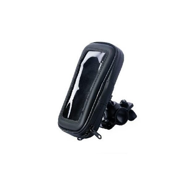 Jc carcasa negra soporte universal bici waterproof para móviles