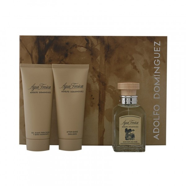 Adolfo dominguez agua fresca eau de toilette 120ml vaporizador + after shave 100ml + gel de baño 100ml