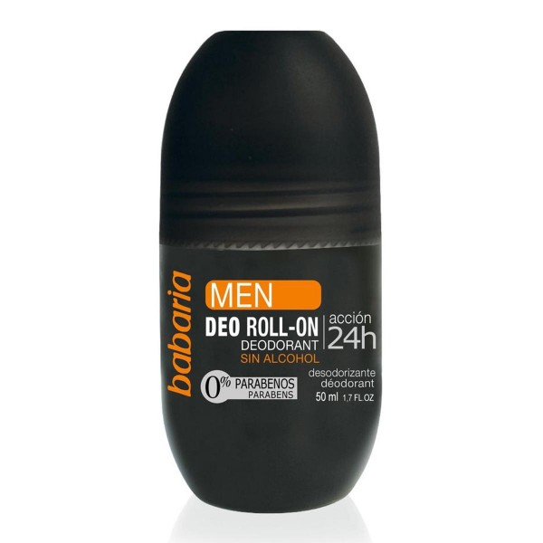 Babaria men deo roll-on sin alcohol accion 24h 50ml