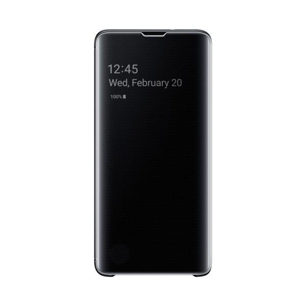 Samsung clear view cover negra galaxy s10 funda con tapa