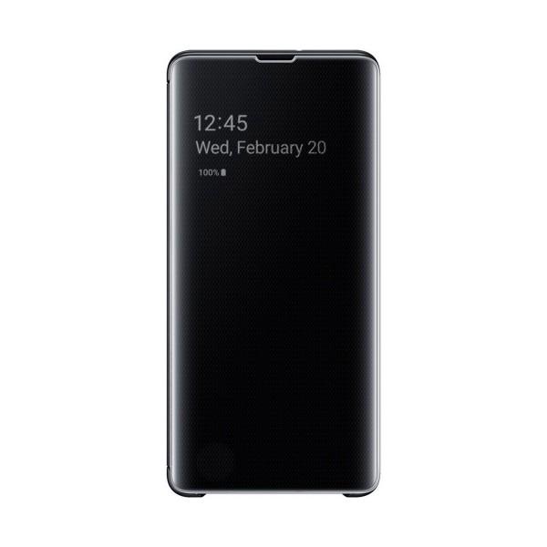 Samsung clear view cover negra galaxy s10+ funda con tapa