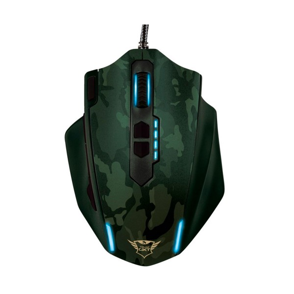 Trust gxt 155 camuflaje verde ratón caldor gaming mouse 4000 dpi