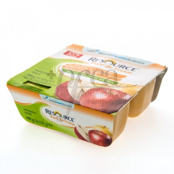 RESOURCE PURE DE FRUTAS MANZANA 4X 100G
