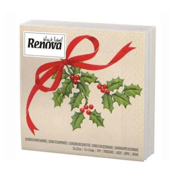 Renova servilletas decoradas Navidad 20 unidades