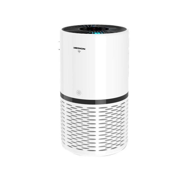 Medion air purifier md10171 blanco/purificador 52m2/ 23w/reduce concentración de aerosoles/control de aplicaciones/panel de control táctil,/filtro hepa